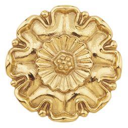 """Brass Flower Rosette, Polished, 3-3/8"""" Diameter"""