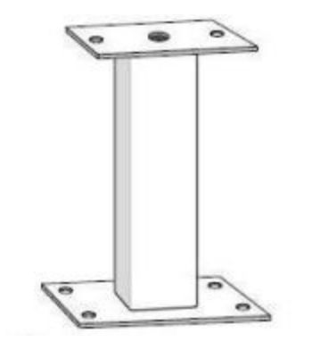 Mounting Pedestal, Galvanized, for FAAC Model 844ER