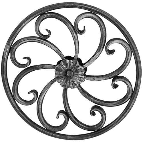 "1/2"" dia. Forged Steel Circle Scroll Panel"