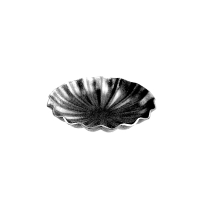 """4-1/8"""" dia. X 1mm Thick Steel Scalloped Candle Drip Tray"""
