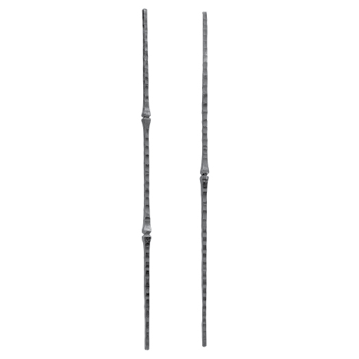 """3/8"""" sq. Forged Steel Hammered Balusters with Bushing Design"""