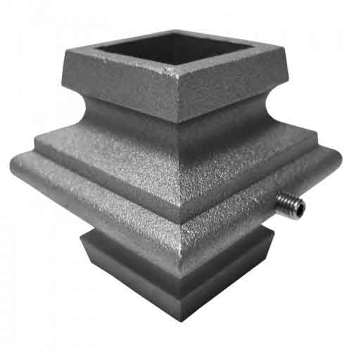 """Picket Collar for 1"""" sq., Aluminum, w/Stainless Steel Set Screw, 2-1/4"""" Tall"""