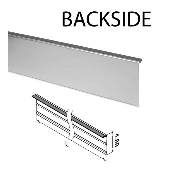 Backside Cladding to use with Easy Glass® Slim Base Shoe