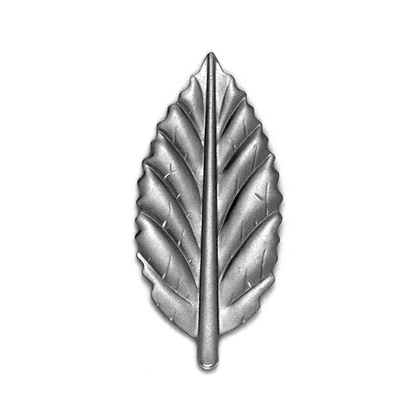 "3"" Tall Stamped Steel Embossed Leaf"