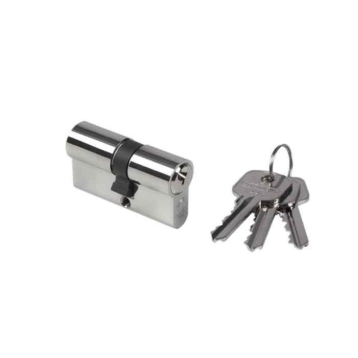 """2-3/8"""" (60mm) Europrofile Double Cylinder, Keyed Alike, w/3 Keys"""