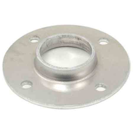 "Aluminum Base Flanges with Four Holes for 1-1/4"" and 1-1/2"" Sch. 40 Pipe"