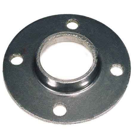 """Steel Base Flanges with Four Holes for 1-1/4"""" and 1-1/2"""" Sch. 40 Pipe"""