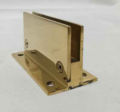 "Flat Back Brass Clip for 1/4"" Thick Glass"