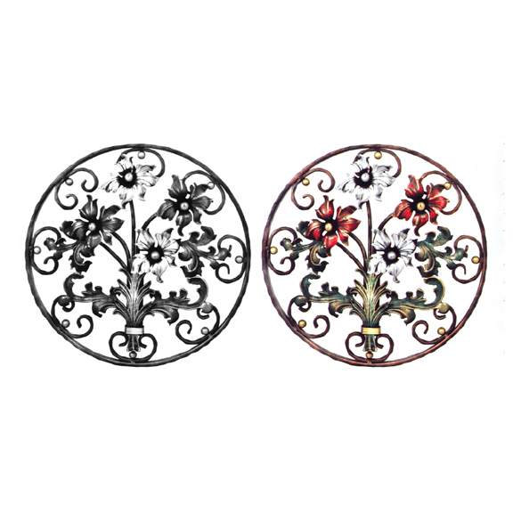 Steel Lilies & Leaves Flower Panels, Painted and Unpainted