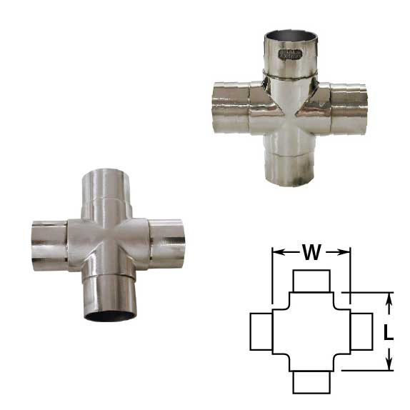 Flush Crosses in Polished and Satin Stainless Steel