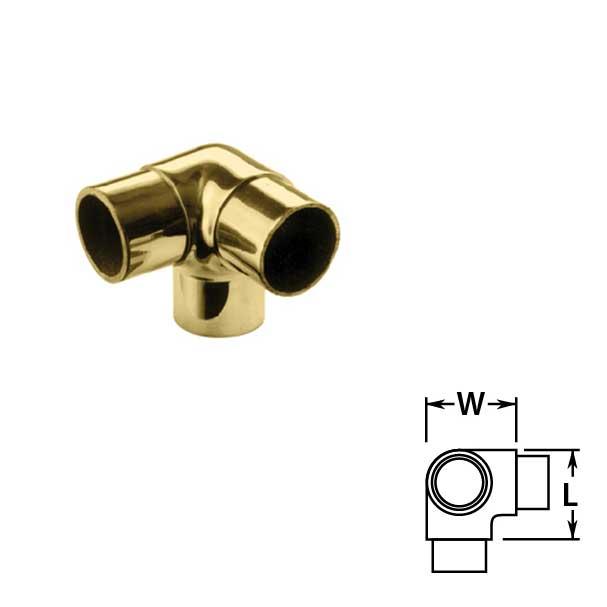 Flush Side Outlet Ells in Brass