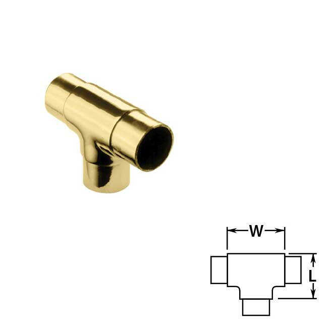 Flush Tees in Brass
