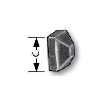 """5/8"""" tall Steel Nut, M8 Hole, 10/pack"""