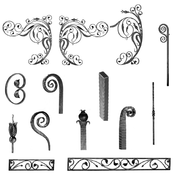 Forged Steel Panels, Scrolls & Valences for Gate Design 18-2
