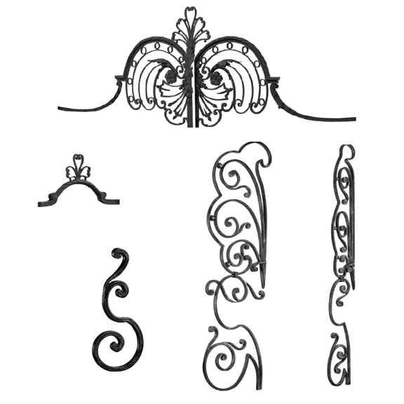 Forged Steel Crowns, Scrolls & Panels for Gate Design 18-6