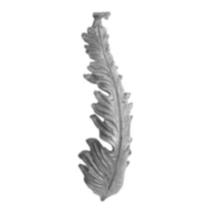 "13"" Tall Forged Steel Leaf, 4"" Wide, 4mm thick"