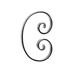"""3/4"""" x 1/4"""" Forged Steel C-Scroll, 10-3/4"""" Tall"""