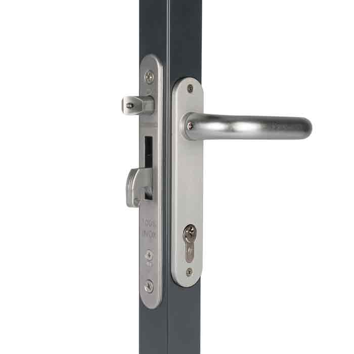 "Fortylock Mortise Lock Kits for 2"" and 2-1/2"" Frames w/Stainless Steel Handles and Cover Plates"