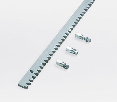 "Gear Rack, Galvanized Steel, 1-1/4"" (30mm) x 1/2"" (12mm), 4mm pitch, 3'3"" Long"
