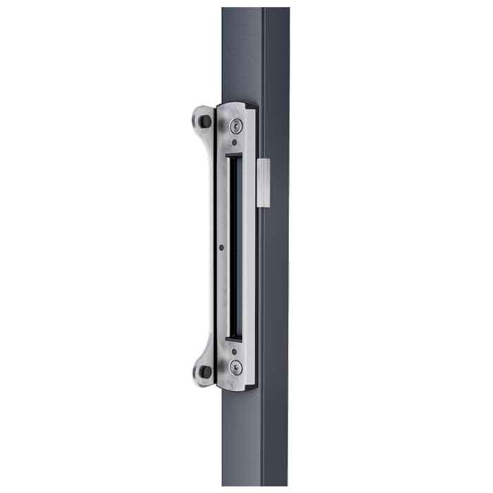 "Keeper for Bolt-on Locks, Min. Gap 3/8"", Aluminum Finish"