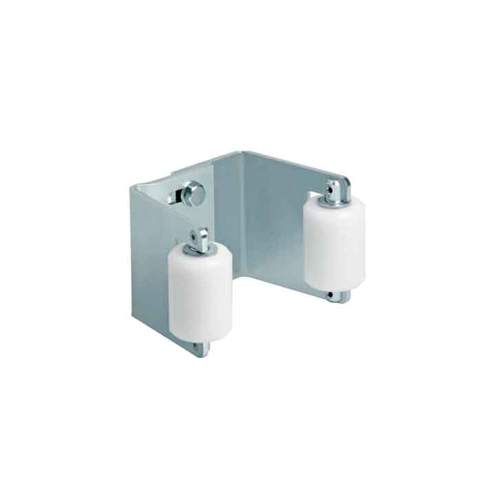 """Gate Receiver, Fits 2""""-3"""", Galvanized, w/Nylon Rollers"""