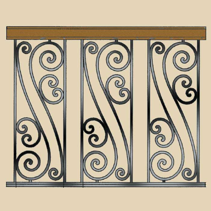 Geno Prefabricated Ornamental Railing Panels