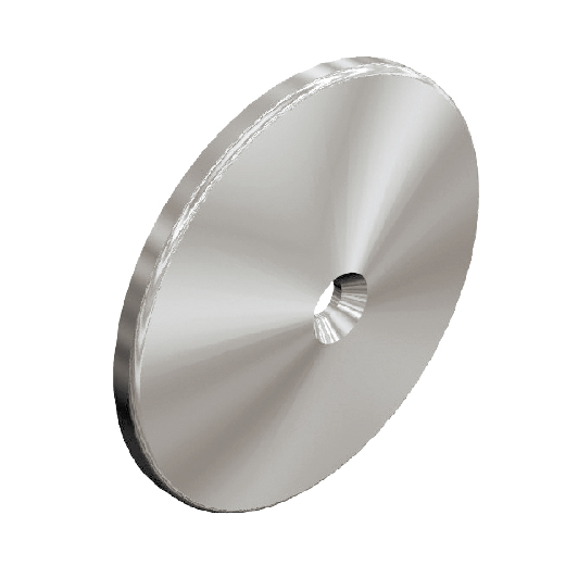 """Glass Mount Back Plate, 3"""" dia., 316 Satin Stainless Steel"""