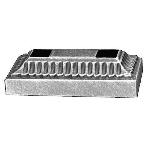 Rectangular Base Shoe for use with item FOB403, Zinc Plated