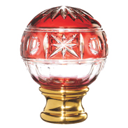 Grande Forge Red Glass Crystal Post Top