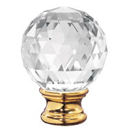 Grande Forge Crystal Sphere Post Tops