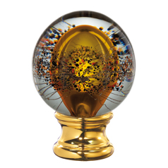 Grande Forge Amber Glass Ball Post Top