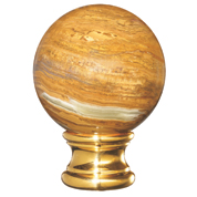 Grande Forge Onyx Brown Ball Post Top