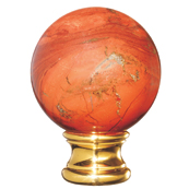Grande Forge Red Jasper Ball Post Top