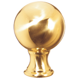Grande Forge Brass Ball Post Top