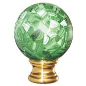 Grande Forge Malachite Mosaic Ball Post Top