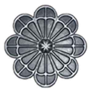 """4"""" dia. Steel Flower Rosette, Single Faced"""