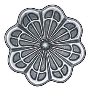 "2-9/16"" dia. Steel Flower Rosette, Single Faced"