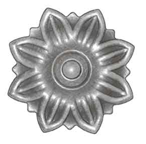 "3-1/2"" dia. Steel Flower Rosette, 5/64"" Thick, Single Faced"
