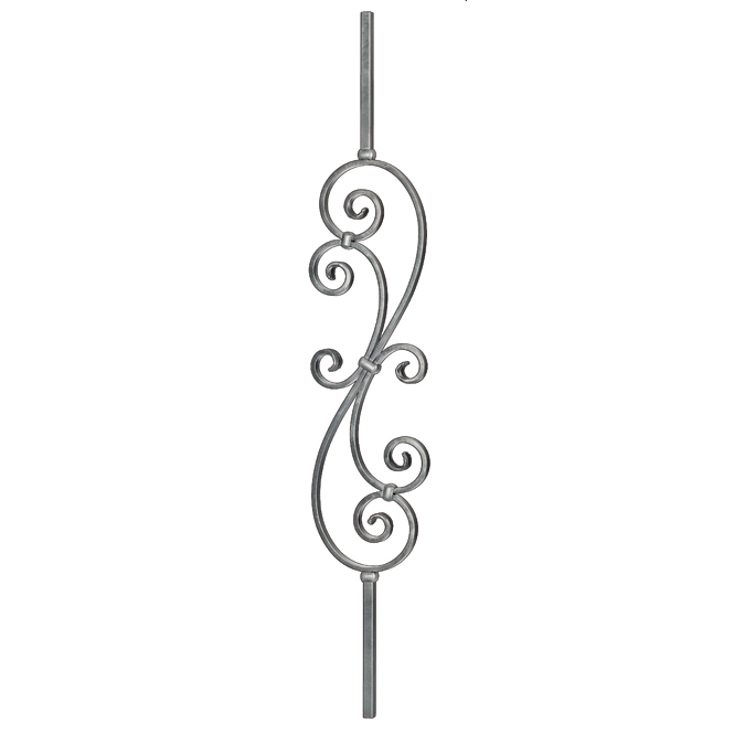 """5/8"""" sq. Steel S-Scroll Baluster, Tradition Series"""