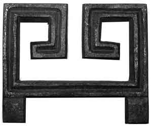 Greek Key Scroll in Cast Iron