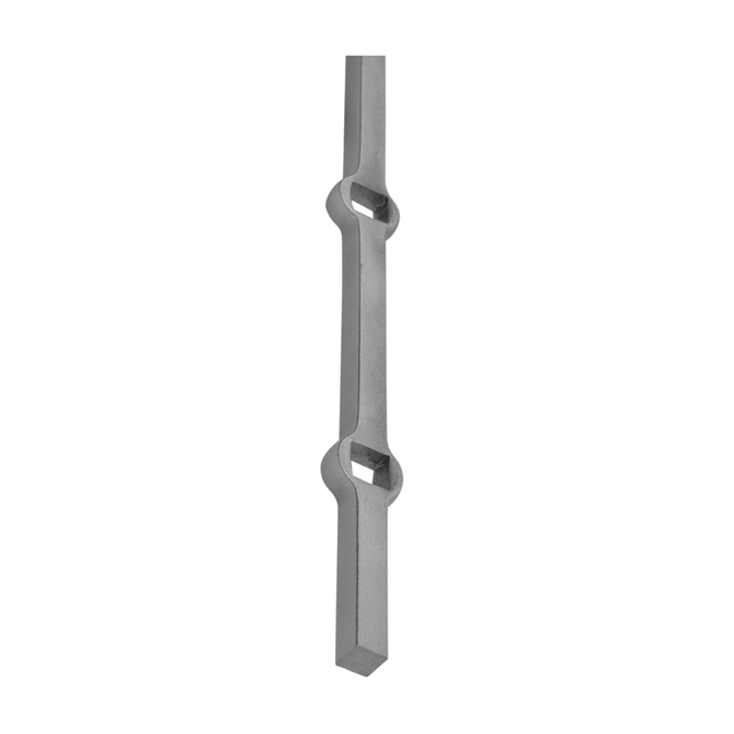 "5/8"" sq. Hot Pierced Steel Bar, 17 holes at 5/8"" sq."