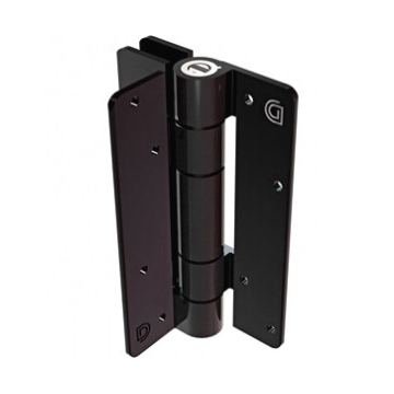 Aluminum Adjustable Self-Closing Gate Hinge, Wall or Post Mounted, Pair with Screws - Bronze