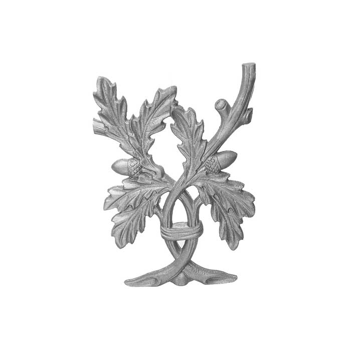 """11-1/2"""" Tall Cast Iron Insert, Live Oak Style, Double Faced"""