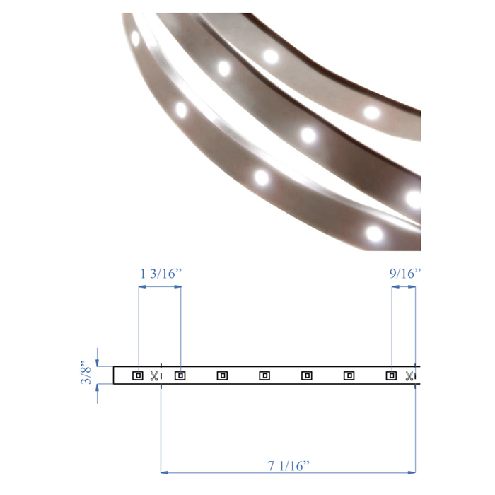 LED Strip, 180 lumens, Sold by the foot