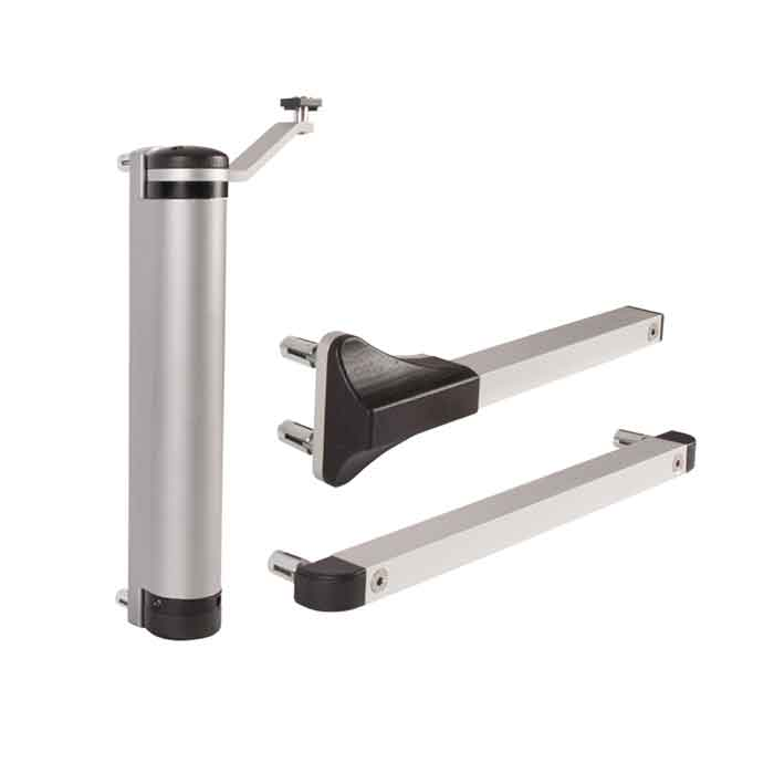 LION Compact Hydraulic Gate Closer for 90 or 180 degree Gates up to 165 lbs., Silver