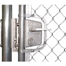 "Chain Link Swing Gate Lock Kit for 1-3/8"" round frames, Black, Includes LUKY30JBL, SHKLQFBL, 3019LA, 6403 & CLH"