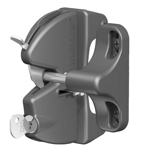 Lokk-Latch Key-Lockable General Purpose Latch w/o External Access Kit, Black