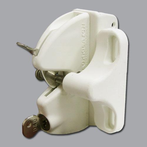 Lokk-Latch Key-Lockable General Purpose Latch w/o External Access Kit, White