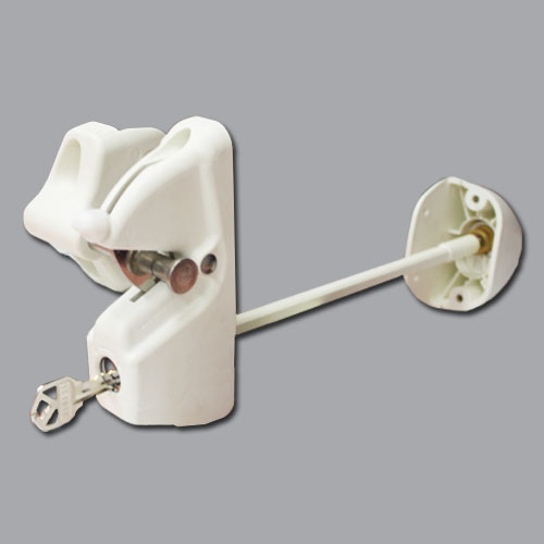 Lokk-Latch Deluxe Security Latch, Keyed Alike, w/External Access Kit, White
