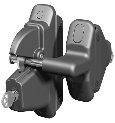 Lokk-Latch PRO SL Self-Locking Gate Latch for Metal or Wood Gates, Black